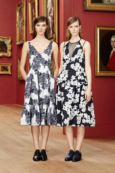 Erdem Pre-Fall 2015: Reese Witherspoon (L) and Jessica Pare (R) (www.ifiwasastylist.blogspot.com)