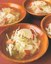 Smoked-Sausage, Cabbage, and Potato Soup - Pork Soups and Stews from Food & Wine