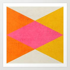 summer triangles Art Print by her art - $18.00