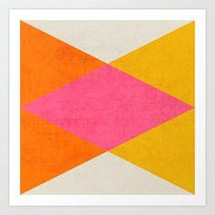 summer triangles Art Print by her art