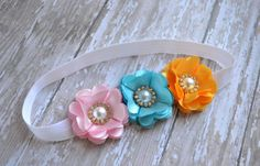 Summer Baby Headband Toddler Flower by LilMajestyBoutique on Etsy