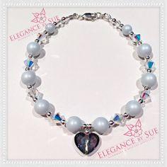 Pastel Blue Bracelet by ElegancebySue on Etsy