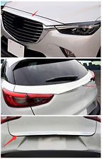 3* Front Hood+Rear Tailgate+Rear Door Trunk Lid Trim For Mazda CX-3 2016 2017