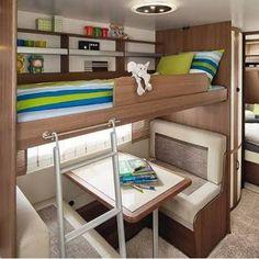 Resultado de imagem para hobby 2016 bunk caravan interiors