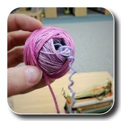how to make a ball of yarn with a center pull by hand