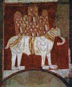Elephant and Castle (Fresco in San Baudelio, Spain) - Ermita de San Baudelio de Berlanga