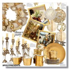 """""""#PolyPresents: Dinner Party"""" by marionmeyer on Polyvore featuring interior, interiors, interior design, Zuhause, home decor, interior decorating, John Lewis, National Tree Company, contestentry und polyPresents"""