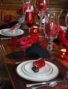 Sevgililer günü masa dekorasyonu