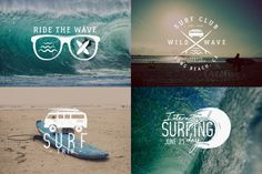 Summer Surfing Badges & Elements by JeksonGraphics on @creativemarket