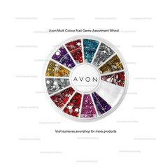Avon Multi Colour Nail Gems Assortment Wheel ~ New Sealed ~ Free P&P  #Avon