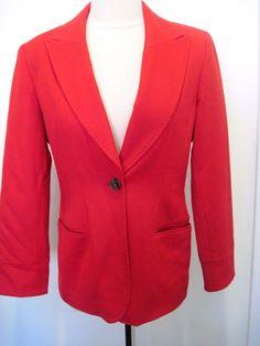 BERN AND MORT Red 100 % CASHMERE Jacket Size  4 #BERNANDMORT #Blazer