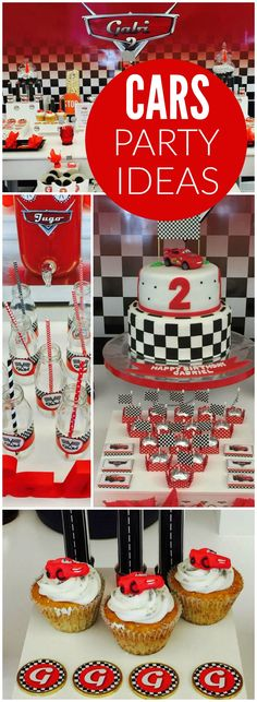 What a fantastic Disney Cars birthday party! See more party ideas at… Pixar Cars Birthday, Cars Birthday Parties, Birthday Boys, Birthday Ideas, Disney Cars Party, Car Party, Disney Parties, Ferrari Party, Hot Wheels Party