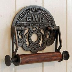 Traditional GWR railways vintage design victorian wall mounted toilet loo roll holder by Bowley and Jackson Loo Roll Holders, Kitchen Roll Holder, Toilet Paper Roll Holder, Victorian Toilet, Victorian Kitchen, Wall Mounted Toilet, Thing 1, Design Your Dream House, Victorian Design
