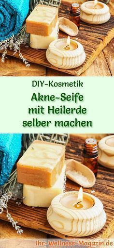 Akne Seife mit Heilerde selber machen - Seifen-Rezept & Anleitung Making Soap - Soap Recipe: Making acne soap with healing earth itself - it helps to inhibit inflammation and absorb excess fat Organic Beauty, Organic Skin Care, Natural Skin Care, Shampooing Diy, Peeling Creme, Acne Soap, Healing Clay, Recipe Instructions, Soap Recipes