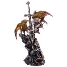Dragon+with+Sword+Dark+Legends+Dragon+Figurine