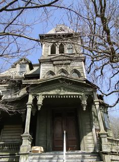 Webster Wagner Mansion in Palatine Bridge, NY Built in 1876 for Webster Wagner, the inventor of the sleeping car for trains. Fate was unkind - Mr. Wagner died shortly after the house was completed in an unfortunate train accident