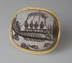 Intaglio. The Warship , 4th century BC Ancient Greece The State Hermitage Museum: Digital Collection
