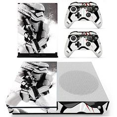 Vanknight-Xbox-One-S-Slim-Console-Remote-Controllers-Skin-Set-Vinyl-Skin-Decals-Stciker-Cover-for-Xbox-One-Slim-XB1-S-Console