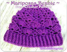 Mariposas Beanie - Free Crochet Pattern | The Crochet Lounge™