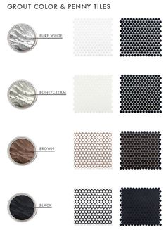 The Difference Grout Color Can Make To Your Tiles - Emily Henderson grout-color-and-penny-tiles-emily-henderson-design Hexagon Tile Bathroom, Zen Bathroom, Attic Bathroom, Bathroom Backsplash Tile, 1920s Bathroom, Bathroom Black, Basement Bathroom, Kitchen Backsplash, Wall Tiles