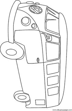 Car Drawing Easy, Easy Drawings, Colouring Pages, Coloring Books, Camper Drawing, String Art Diy, Arts And Crafts, Paper Crafts, Applique Patterns