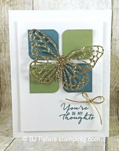 Watercolor Wishes, Butterfly Thinlit, Stampin' Up!  11/11/15 blog entry
