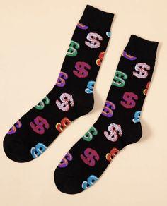 'Money Mama' Crew Socks – Pretty Feet Trinkets Bootie Socks, Sock Ankle Boots, Dollar Sign, Tube Socks, Cute Boots, Designer Socks, Fashion Socks, Comfortable Fashion, Crew Socks