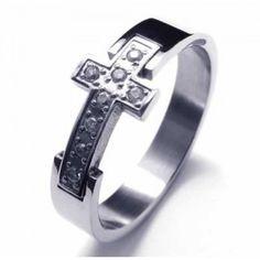Cross Diamond Unisex Titanium Band Ring 10017764 Width: Titanium RingQuantity: one pieceWe bring you the best quality Rings. Titanium Jewelry, Titanium Rings, Jewellery Uk, Diamond Rings, Band Rings, Rings For Men, Silver Rings, Wedding Rings, Engagement Rings