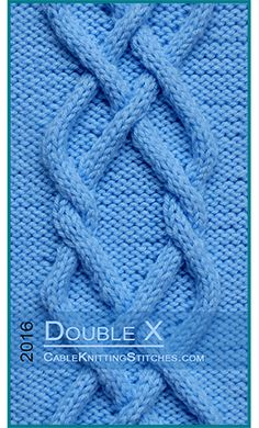 Cable Knitting Stitches » Cable panel 3 » Double X