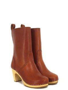 Swedish Hasbeens 478 Cognac Boots 7