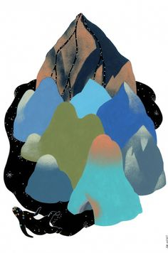 It's Nice That : Illustration: Marta Orzel's stunning mountain ranges seem to belong to another world entirely