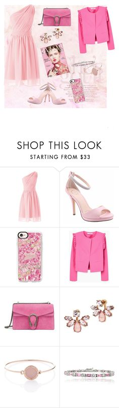 """""""Graduation&afterparty"""" by bella9627 ❤ liked on Polyvore featuring I. MILLER, Casetify, MANGO, Gucci, Marchesa, Michael Kors and Icz Stonez"""