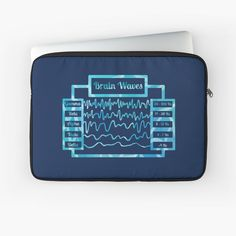 Alpha 8, Science Diagrams, Brain Waves, Blue Tones, Sleeve Designs, Back To Black, Laptop Case, Laptop Sleeves, Printed