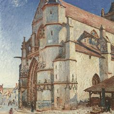 The Church at Moret in Morning Sun,
