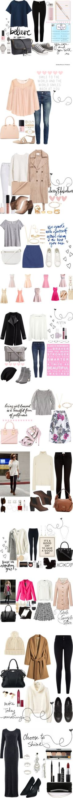 Amazing Styles for the Apple Body Shape by ladylikecharm on Polyvore featuring Oasis, Converse, Forever 21, H&M, Uniqlo, Kate Spade, Topshop, Sugar Paper, Swarovski and Prada