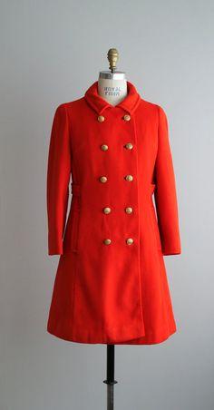 1960s POMODORO red twill I Magnin coat by VacationVintage, $128.00