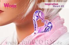 Ohrringe mit Airbrush verziert Earrings decorated with airbrush Airbrush, Inspiration, Jewelry, Schmuck, Ear Piercings, Air Brush Machine, Biblical Inspiration, Jewlery, Jewerly