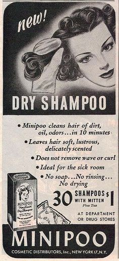 """Minipoo leaves your hair """"delicately scented"""" and is """"ideal for the sickroom."""""""