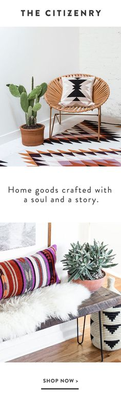 Splendid Meet The Citizenry. A home decor bringing a modern take to time-tested craftsmanship. The post Meet The Citizenry. A home decor bringing a modern take to time-tested craftsman… appea . Decor, Home Decor Accessories, Eclectic Decor, Living Room Decor, Craftsman Home Decor, Spanish Decor, Home Decor, Southwest Decor, Living Decor