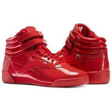 1b7ecba781e Reebok Freestyle Hi Patent Leather - Grade School Red 5