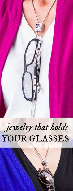 This adjustable stainless steel necklace holds your specs—and looks great whether your glasses are on or off. Discovered by The Grommet.