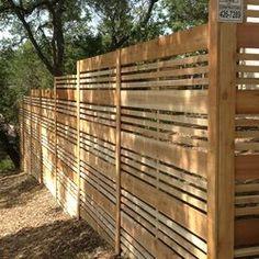 Wood Fence Design, Modern Fence Design, Privacy Fence Designs, Privacy Landscaping, Wooden Fence, Patio Design, Outdoor Rooms, Outdoor Gardens, Outdoor Living