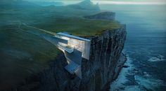 Icelandic Cliffside Retreat (concept art by Alex Hogrefe)