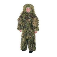 Tactical Camo Full Coverage Ghillie Suit Child Size 14-16 Great Halloween Idea