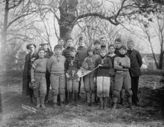 1906 photo FRIENDS SCHOOL. FOOTBALL (note the too-big nose guards)