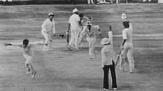 1st test between India and Australia at Madras in 1986 ended as a tie.Score AU's ,574/7 deck and 170/5 deck India ,397 & 347. 2nd in 140 yes of test cricket history. Last man out in last ball Maninder Singh lbw