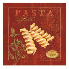 Art Print: Italian Pasta Art Print by Stefania Ferri by Stefania Ferri : Pasta Kunst, Food Illustrations, Illustration Art, Blue Cups, Italian Pasta, Tropical Art, Kitchen Art, Kitchen Prints, Kitchen Ideas