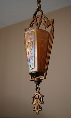Art Deco Slip Shade Chandelier by Markel Electric Co.