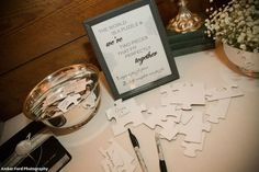 A-mazing guest book idea!!! I LOVE this because I LOVE puzzles! :)