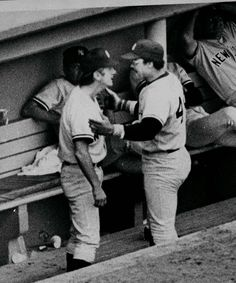 4374f062677 Team Fight July Reggie Jackson and Billy Martin (NY Yank manager) got into  a fight in the dug out.
